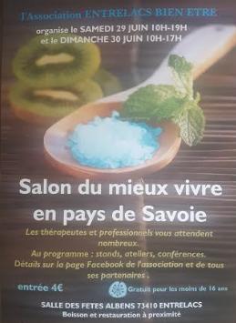 Salon du «Mieux-être en Pays de Savoie» à Albens les 29 et 30 Juin 2019